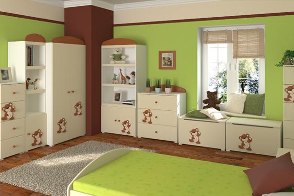 zdj cie nr 9 zielony pok j dzieci cy galeria projekt pokoju dla dziecka pok j dla dziecka. Black Bedroom Furniture Sets. Home Design Ideas